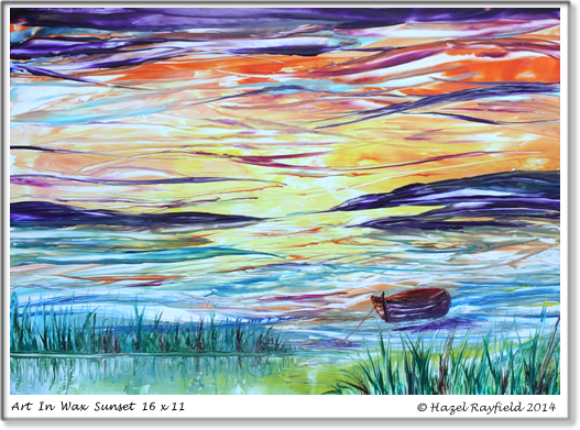 Sunset Painting Reeds